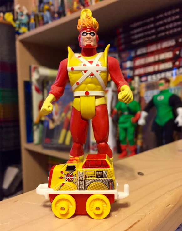 Thomas and Friends Flynn as DC Super Friends Firestorm with Super Powers Firestorm