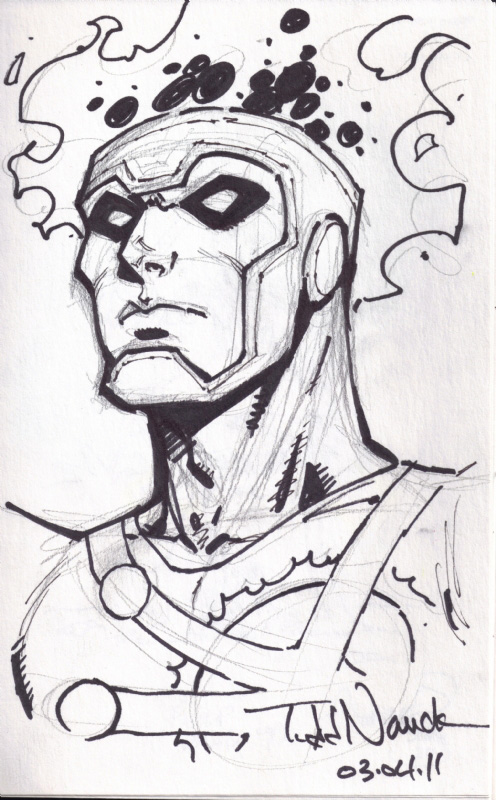 Todd Nauck Firestorm sketch owned by Philip Rutledge