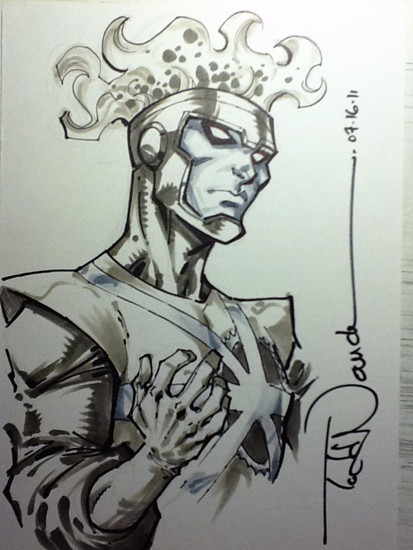 Todd Nauck Firestorm sketch done with Copic markers