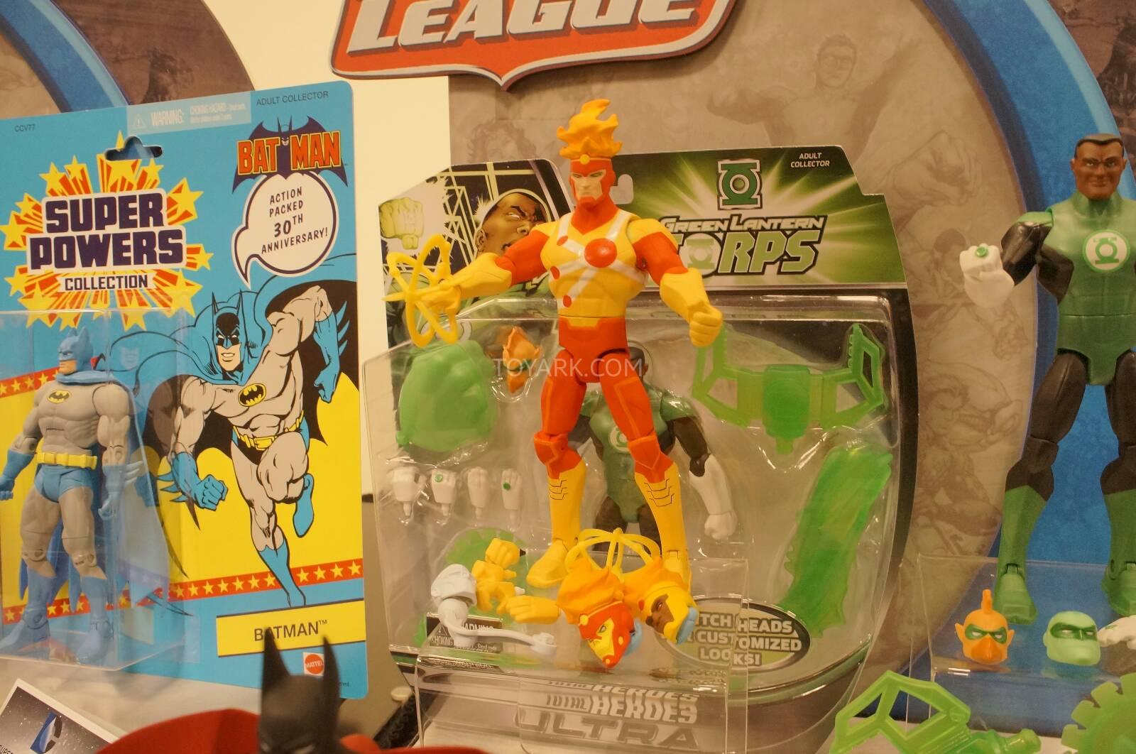 Mattel's Total Heroes Firestorm action figure at Toy Fair 2014