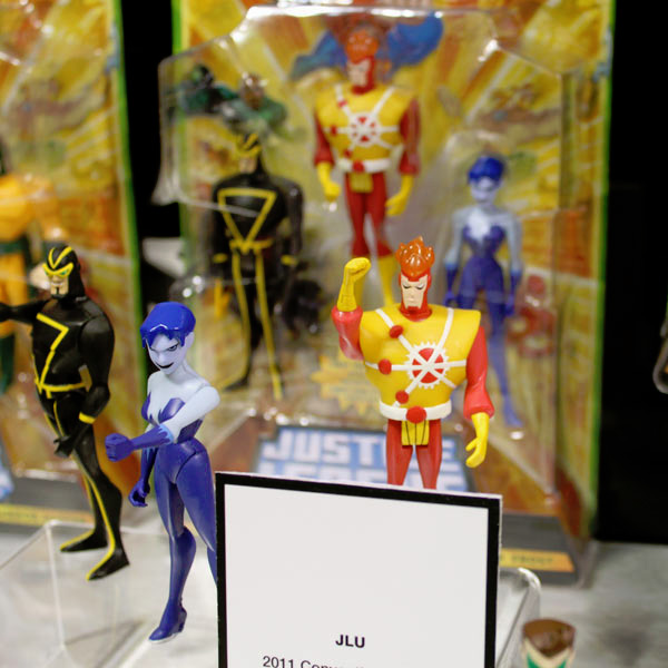 Mattel's Justice League Unlimited: Firestorm, Killer Frost, and Angle Man action figures