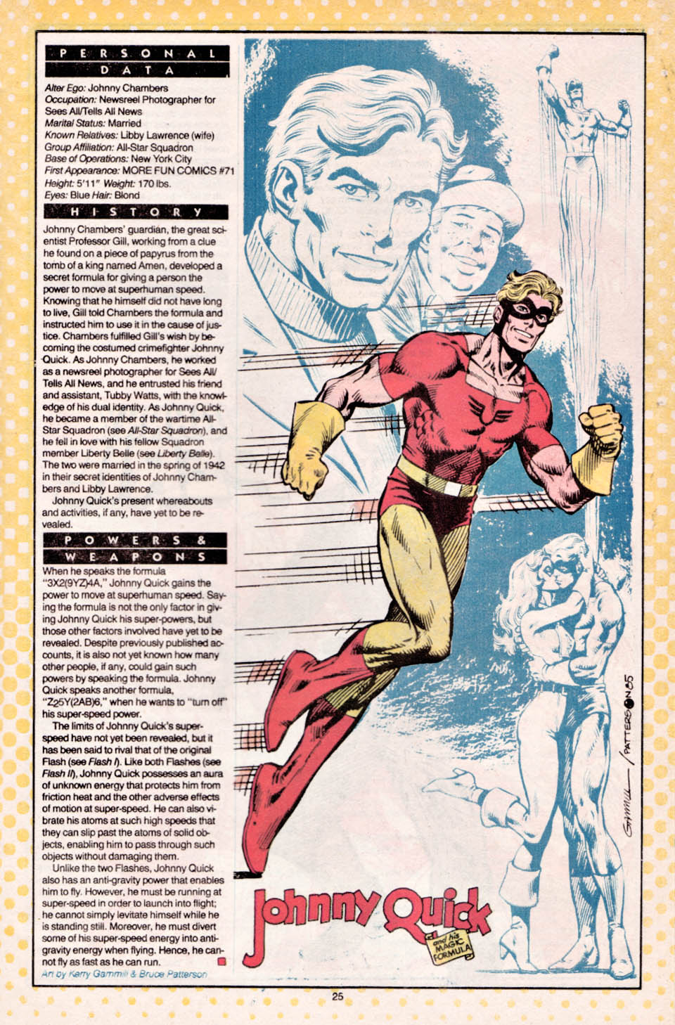 Who's Who Johnny Quick by Kerry Gammill and Bruce Patterson