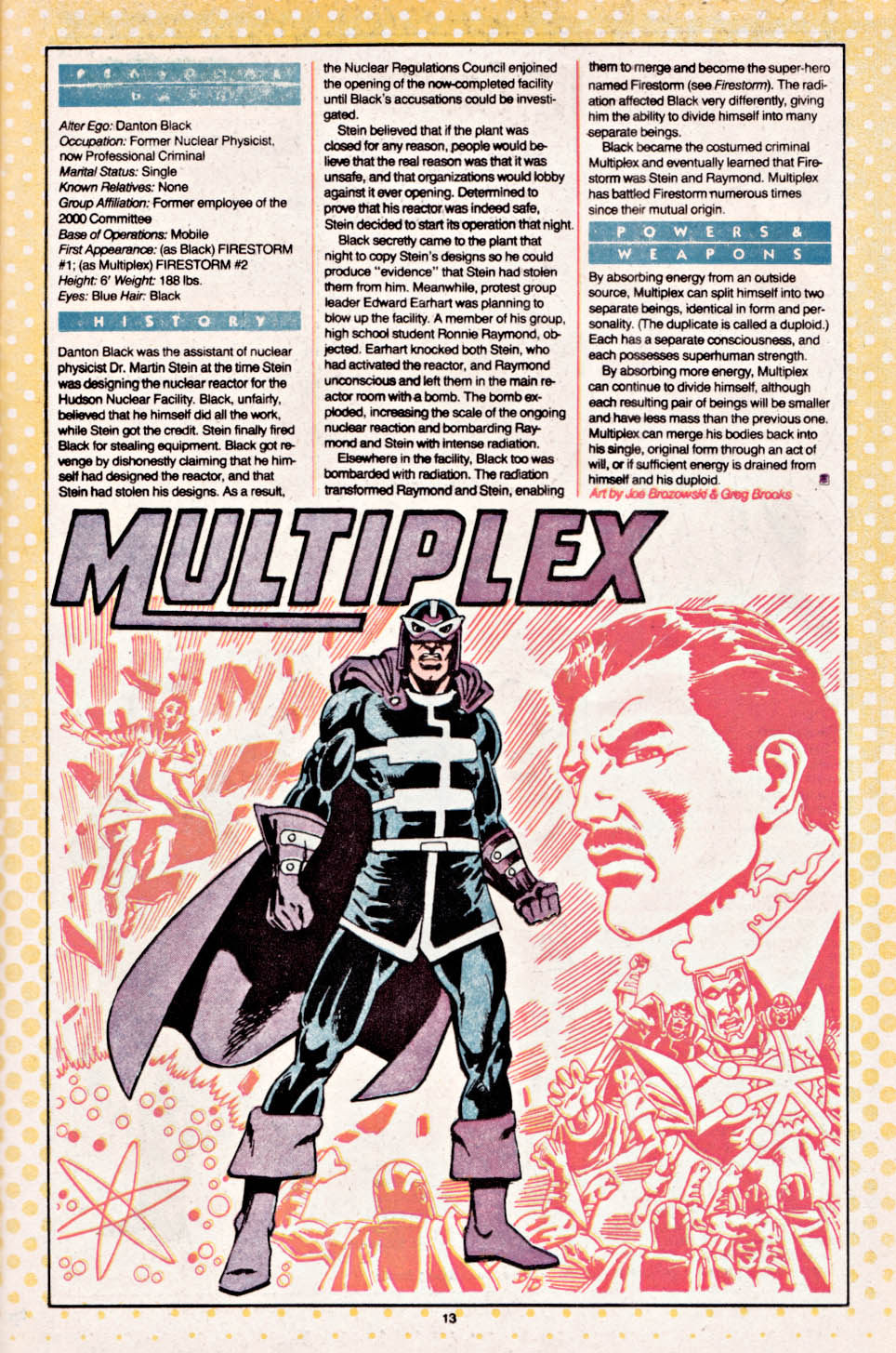 Multiplex Who's Who by Joe Brozowski and Greg Brooks