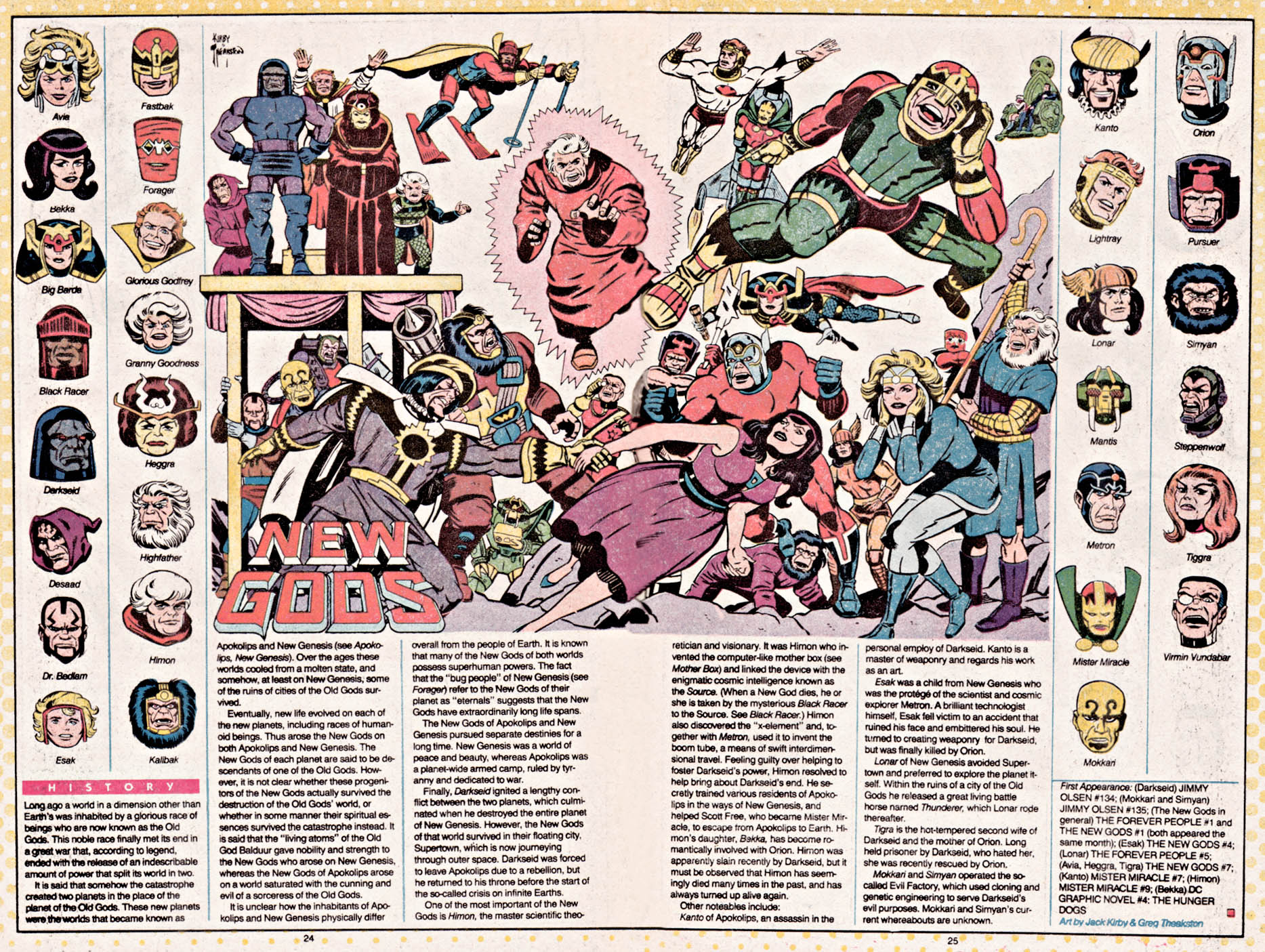 New Gods from Who's Who by Jack Kirby