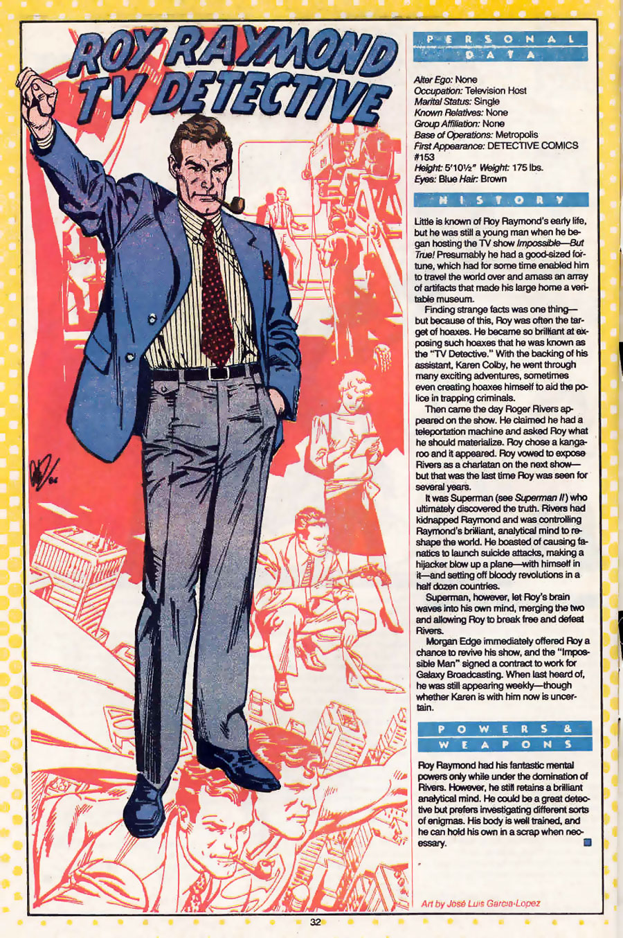 Roy Raymond Who's Who by Jose Luis Garcia-Lopez (Praise Be His Name)