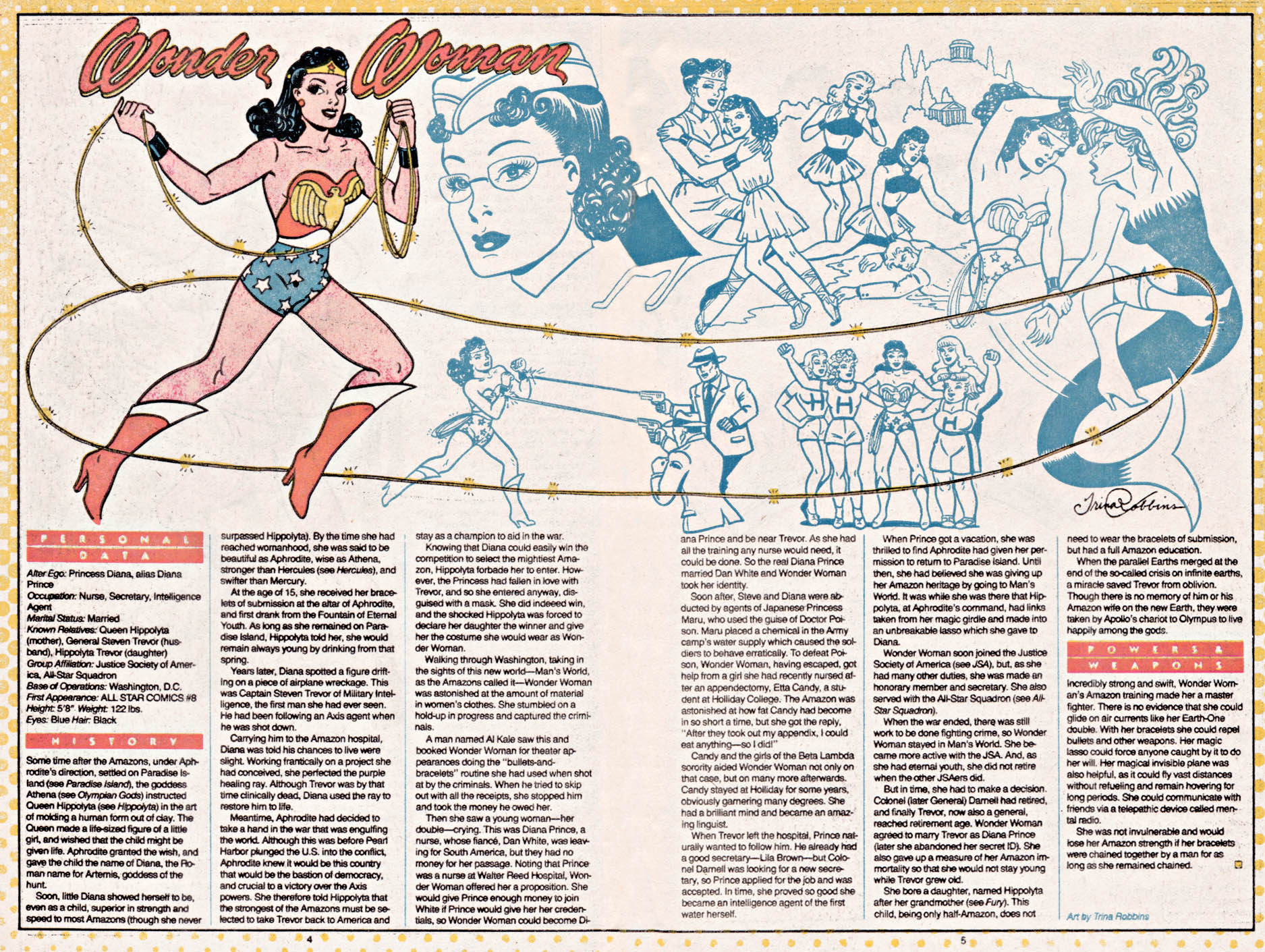 Wonder Woman by Trina Robbins - Who's Who: The Definitive Directory of the DC Universe #26
