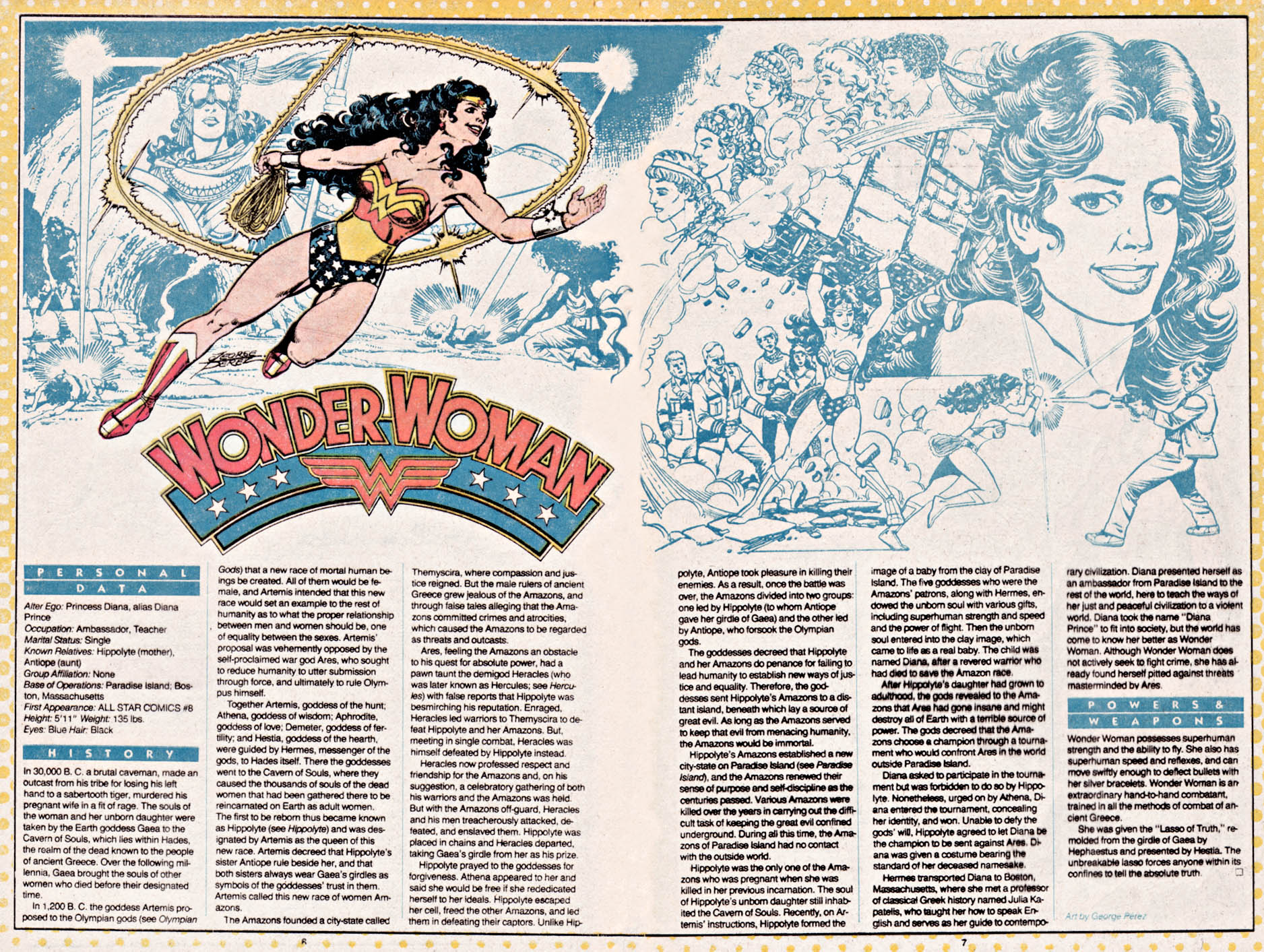 Wonder Woman by George Perez - Who's Who: The Definitive Directory of the DC Universe #26