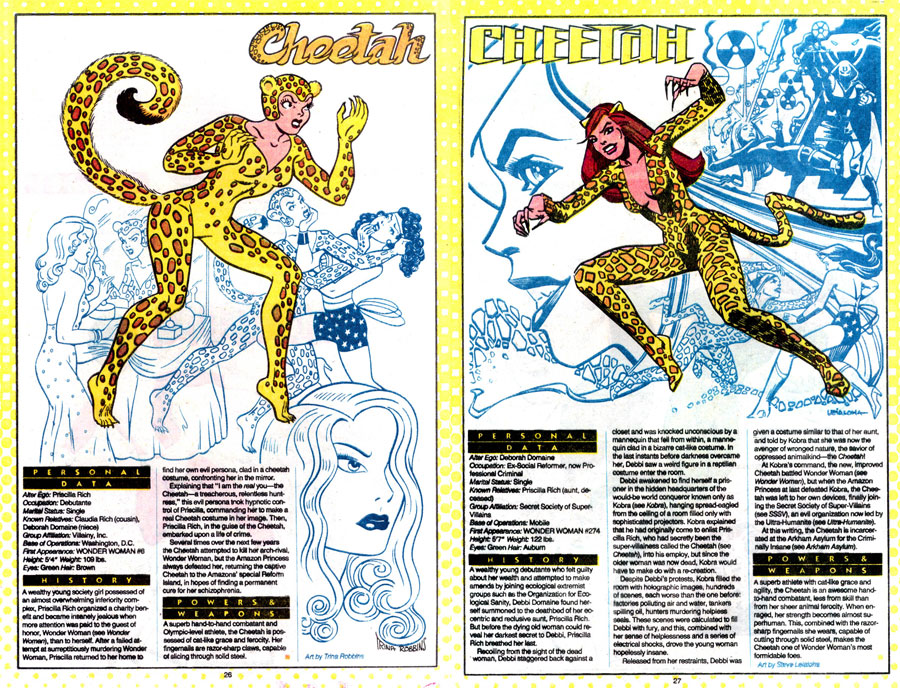 Cheetah by Trina Robbins & Steve Leialoha - Who's Who: The Definitive Directory of the DC Universe #4