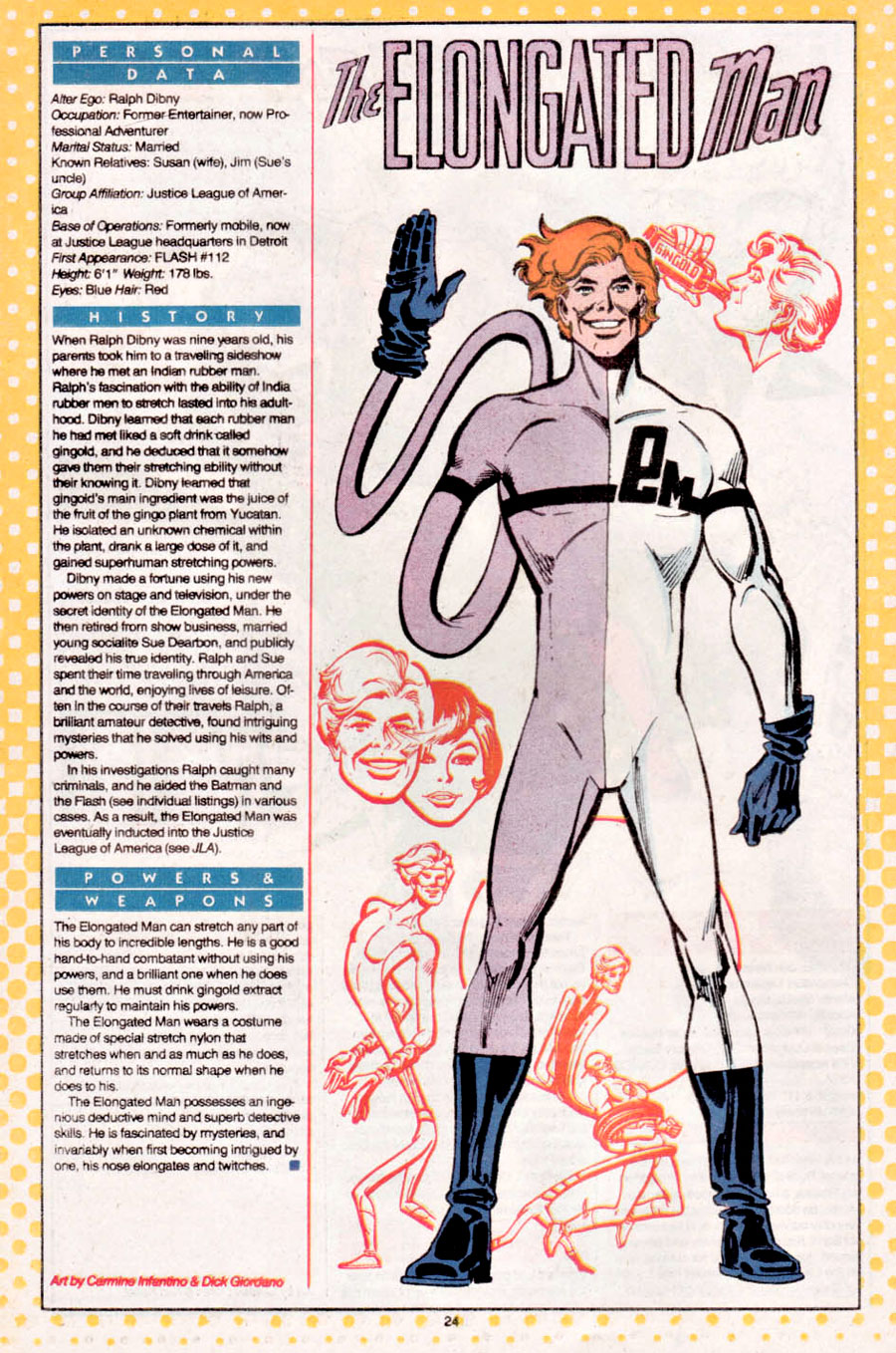 Elongated Man from Who's Who drawn by Carmine Infantino and Dick Giordano!