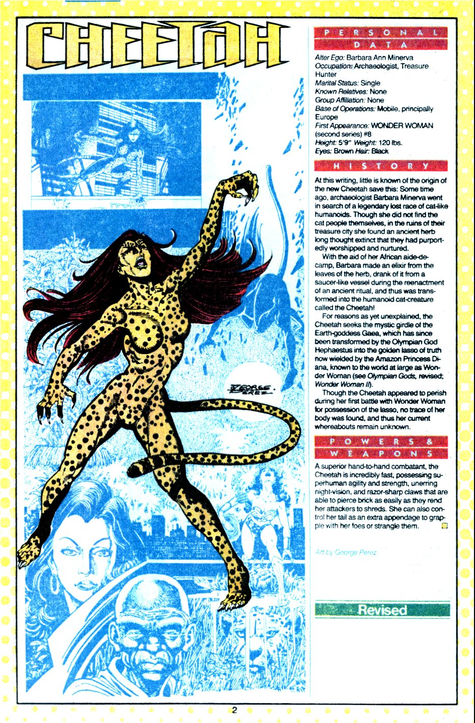 Cheetah by George Perez - Who's Who: Update '87, vol. 2