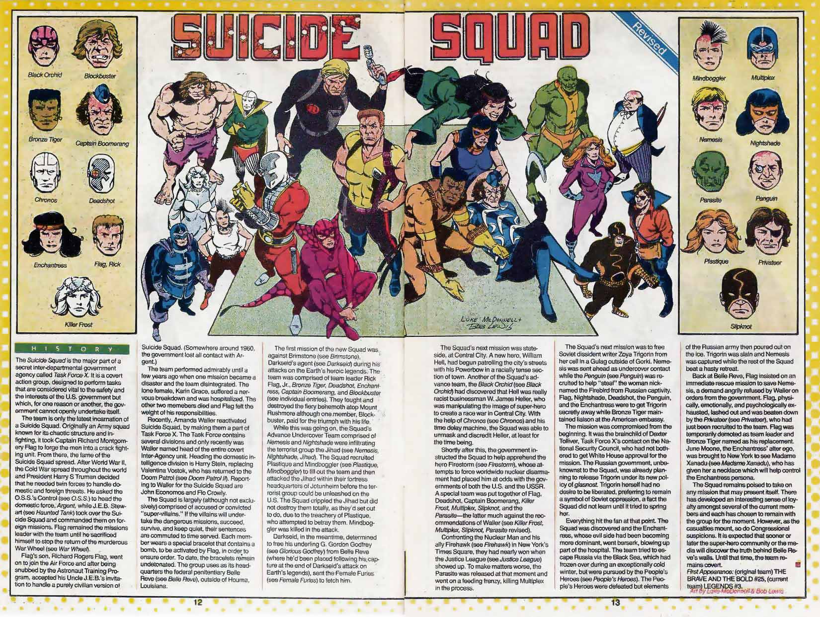 Who's Who Suicide Squad by Luke McDonnell