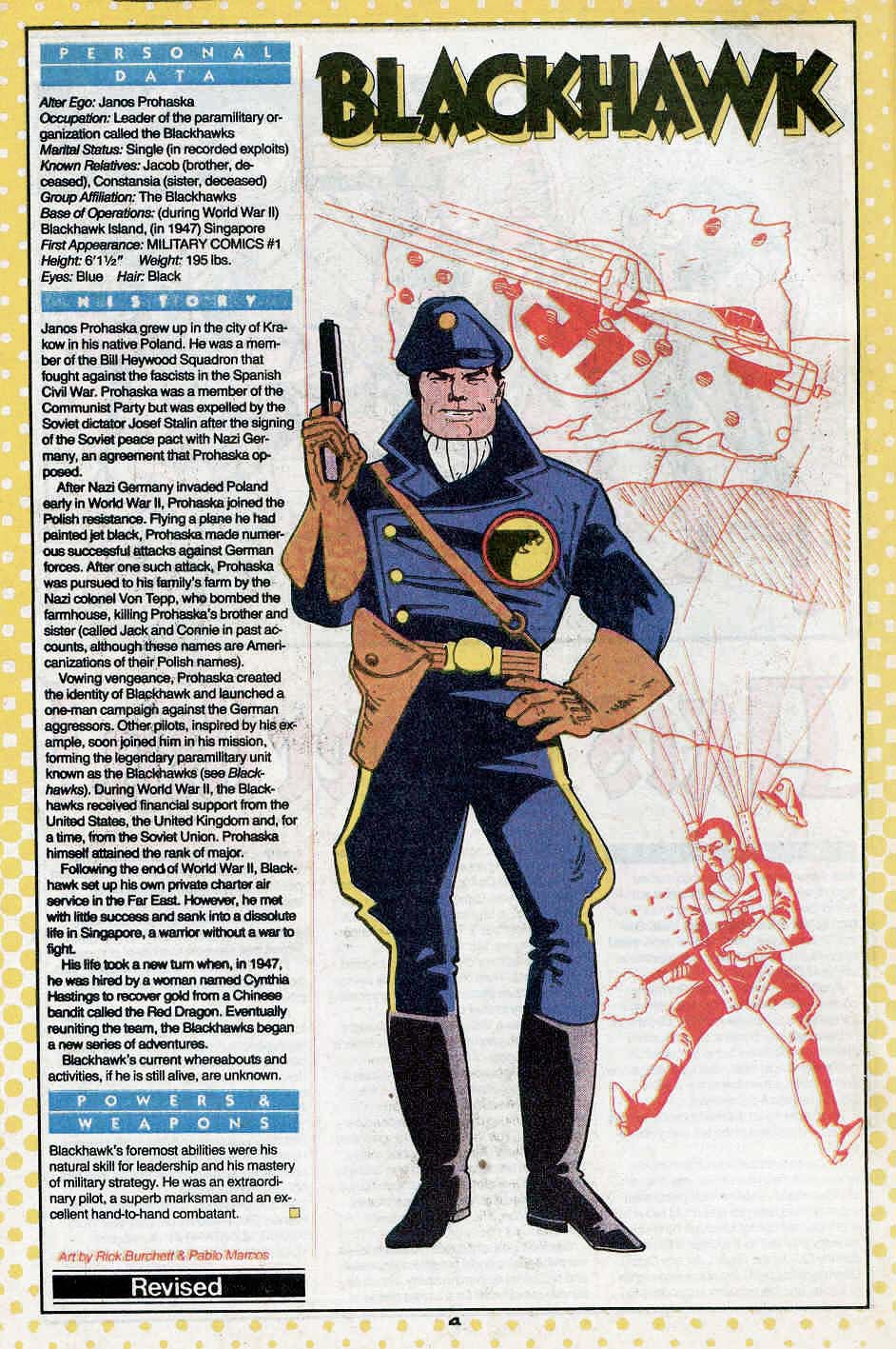 Blackhawk by Rick Burchett and Pablo Marcos
