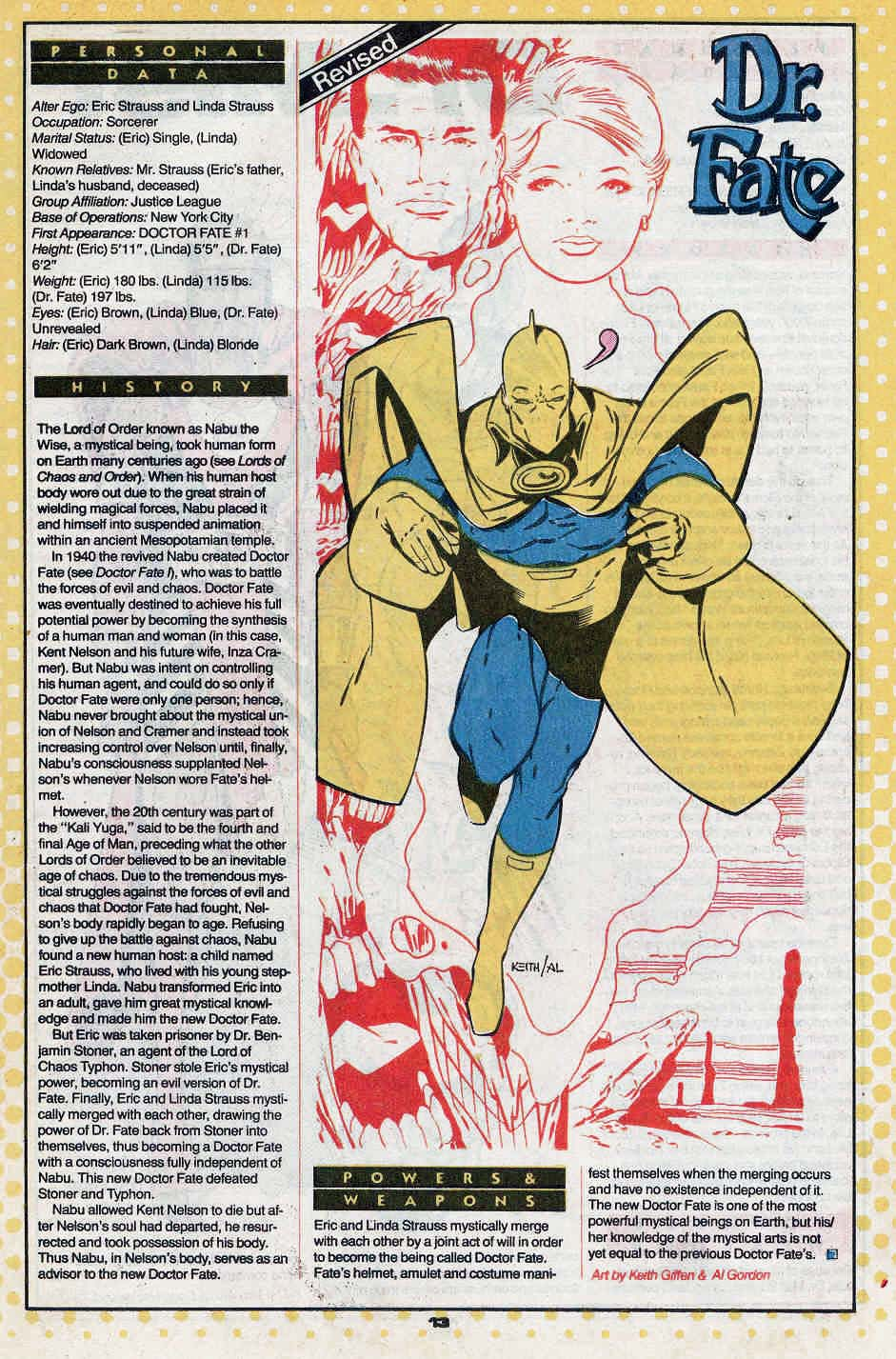 Doctor Fate by Keith Giffen and Al Gordon