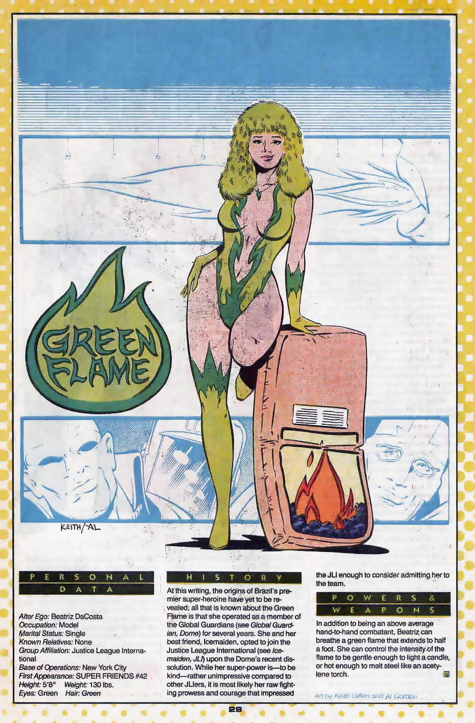 Green Flame by Keith Giffen and Al Gordon
