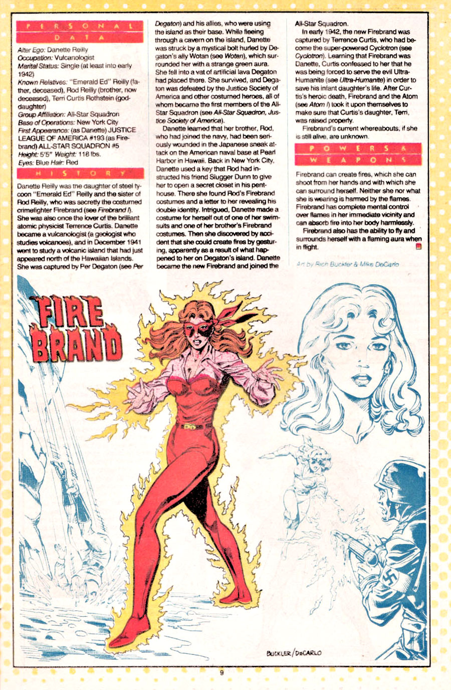 Firebrand from the All-Star Squadron by Rich Buckler and Mike DeCarlo