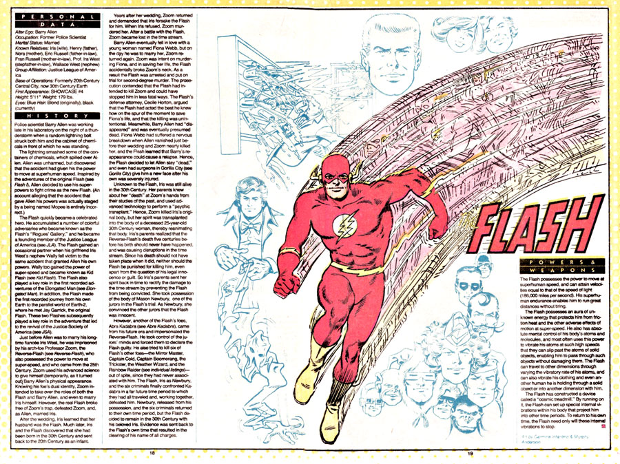 The Flash by Carmine Infantino and Murphy Anderson from Who's Who