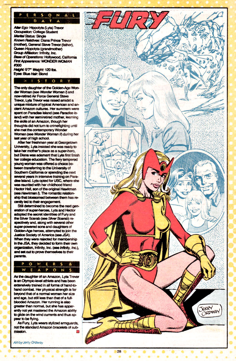 Fury by Jerry Ordway - Who's Who: The Definitive Directory of the DC Universe #8