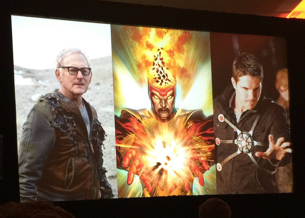 Firestorm costume from The Flash seen at Television Critic Association 2015 Press Tour