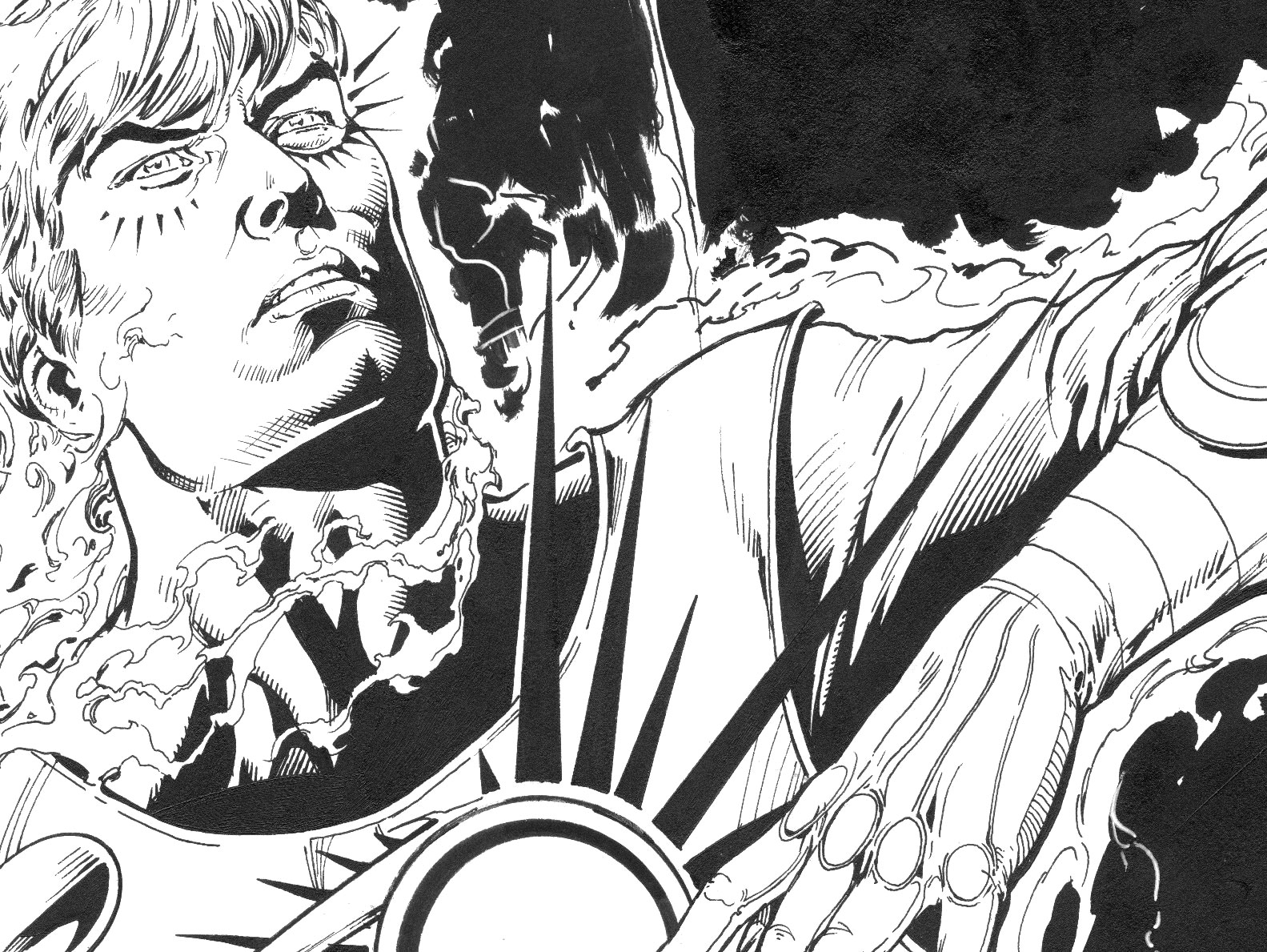 Ethan Van Sciver draws Ronnie Raymond from The Fury of Firestorm The Nuclear Men in The New 52