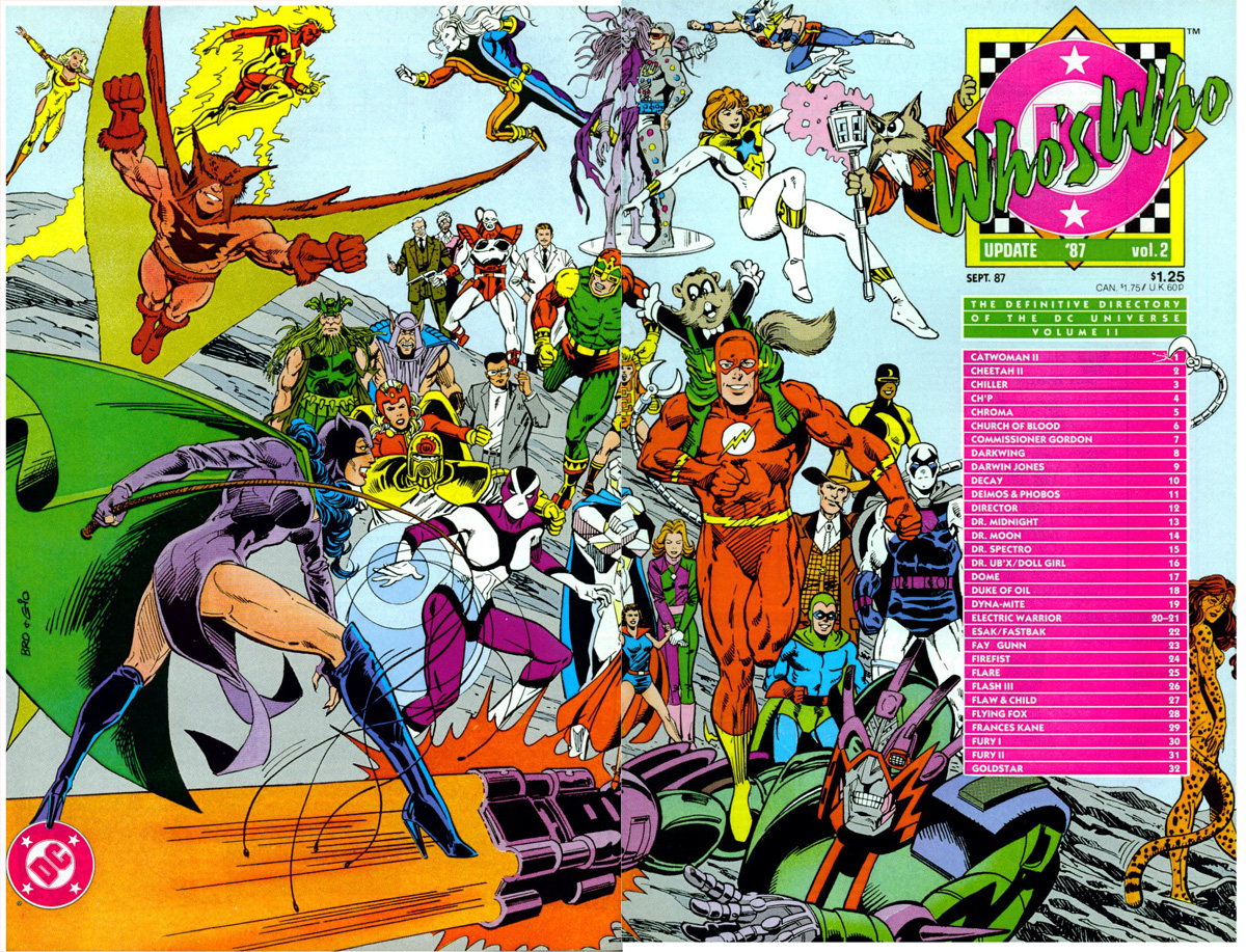 Who's Who Update '87 #2 cover by Joe Brozowski and Dick Giordano