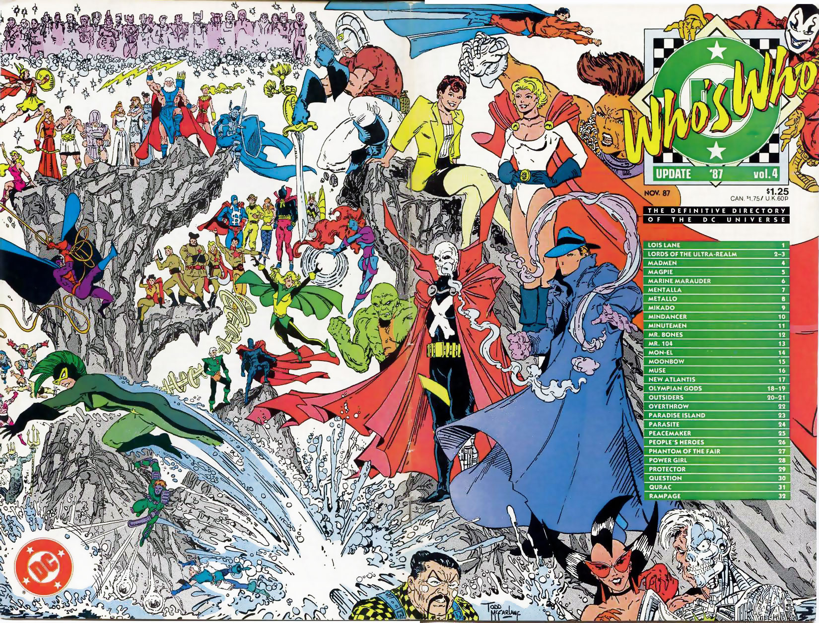 Who's Who Update '87 #4 cover by Todd McFarlane