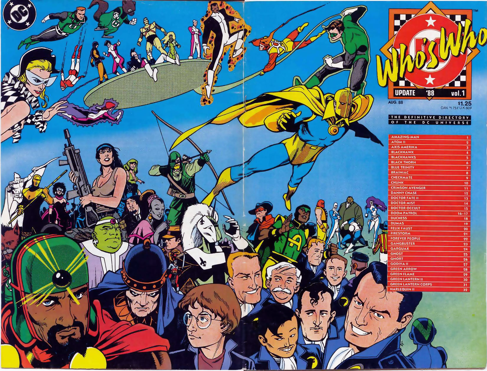 Who's Who: Update '88 Volume 1 cover by Ty Templeton