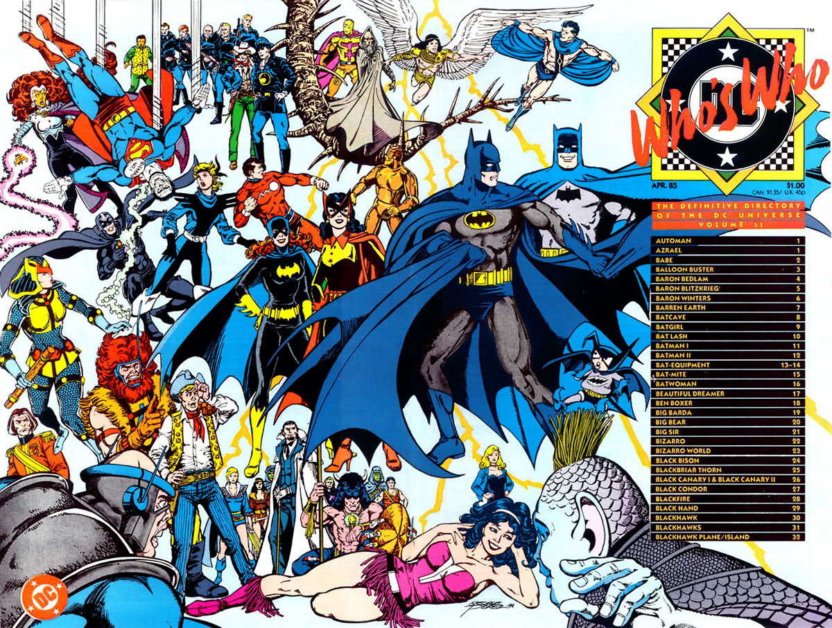 Who's Who: The Definitive Directory of the DC Universe, volume 2 cover by George Perez