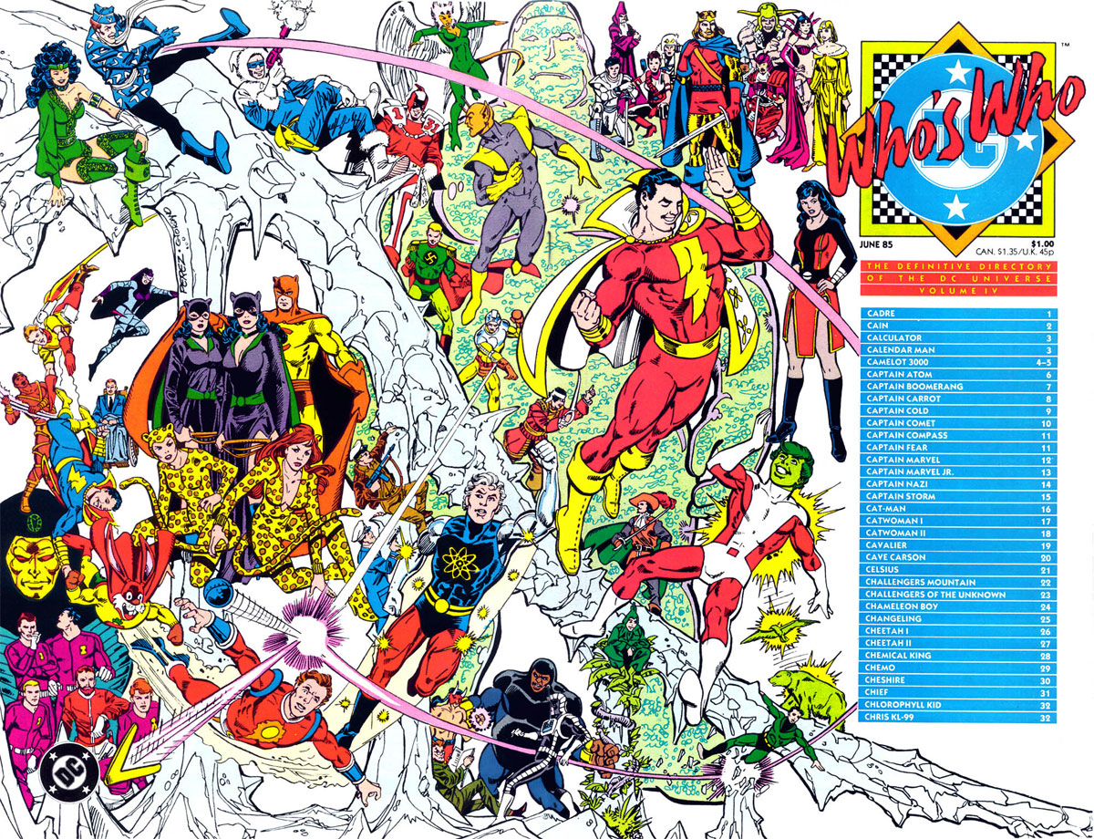 Who's Who: The Definitive Directory of the DC Universe, volume 3 cover by George Perez and Dick Giordano