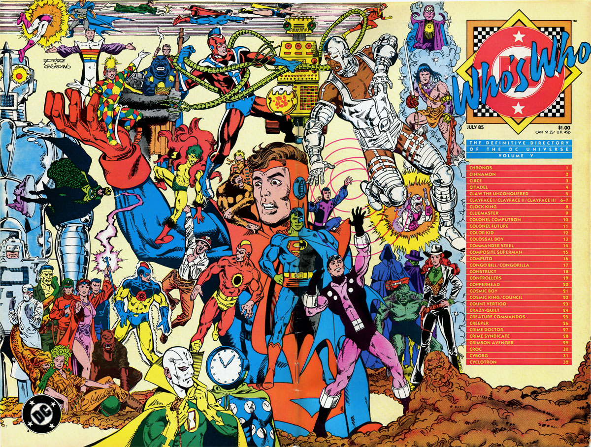Who's Who: The Definitive Directory of the DC Universe, volume 5 cover by George Perez and Dick Giordano
