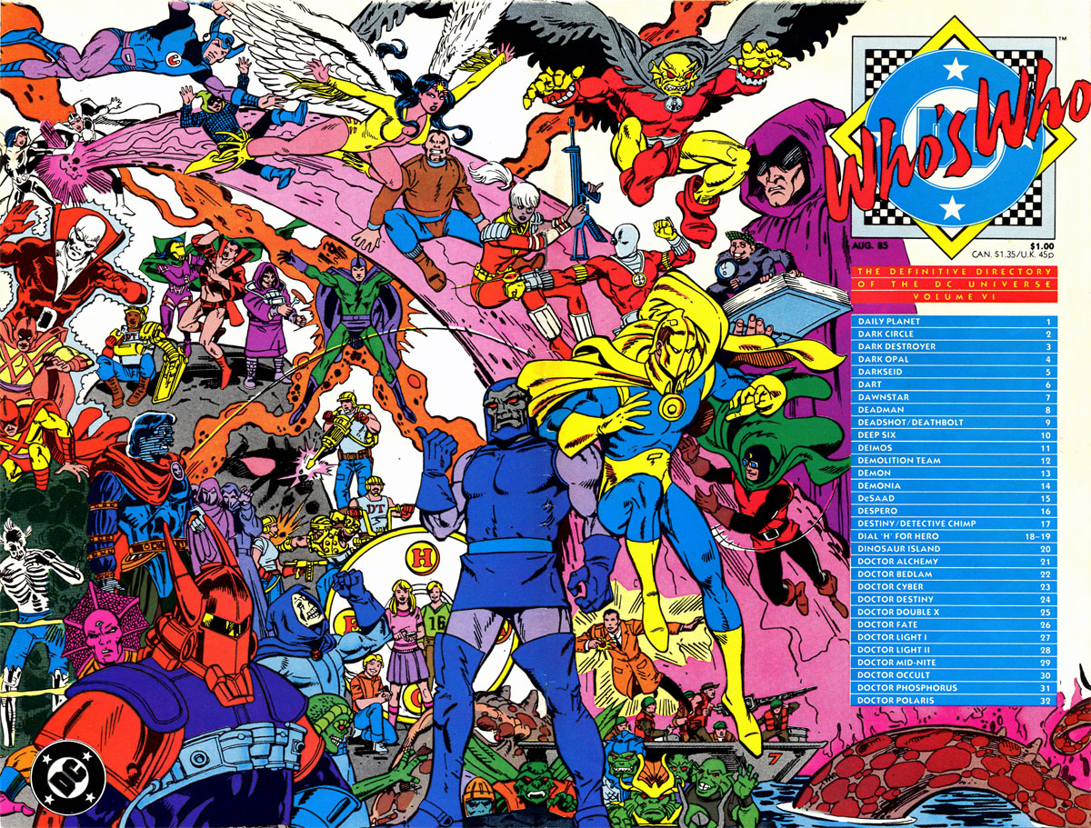 Who's Who: The Definitive Directory of the DC Universe, volume 6 cover by Paris Cullins and Dick Giordano