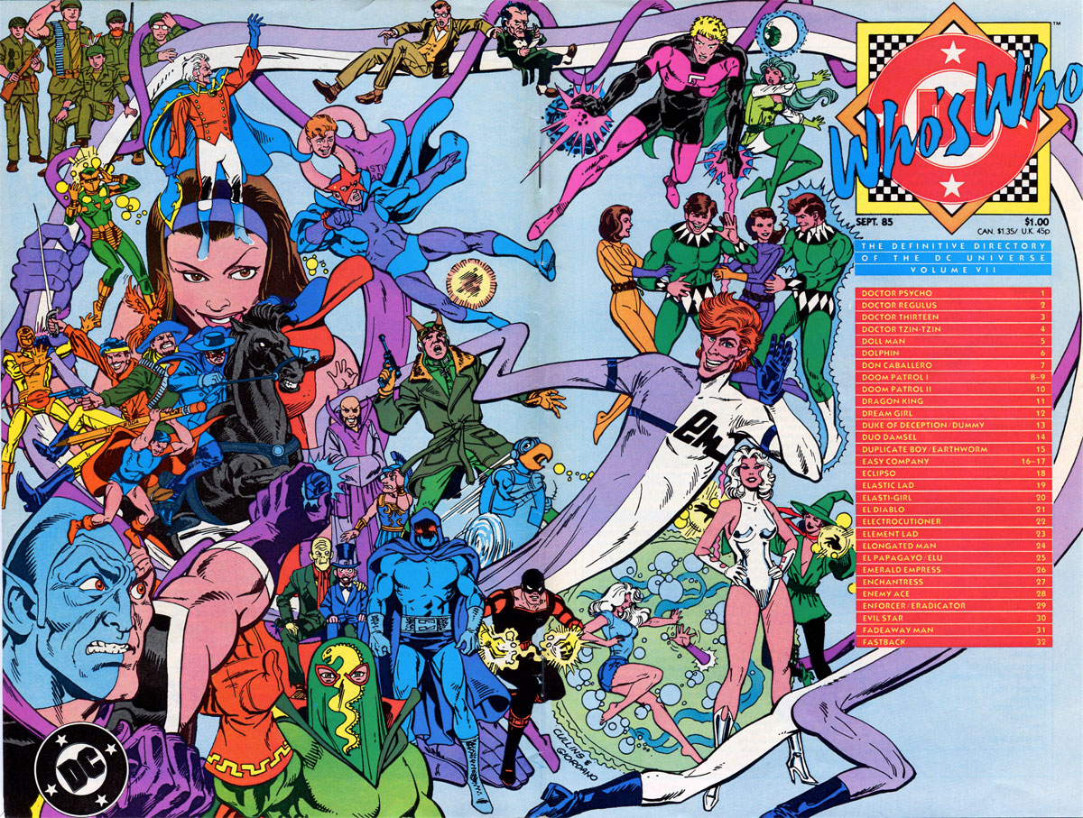 Who's Who: The Definitive Guide to the DC Universe #7 cover by Paris Cullins and Dick Giordano