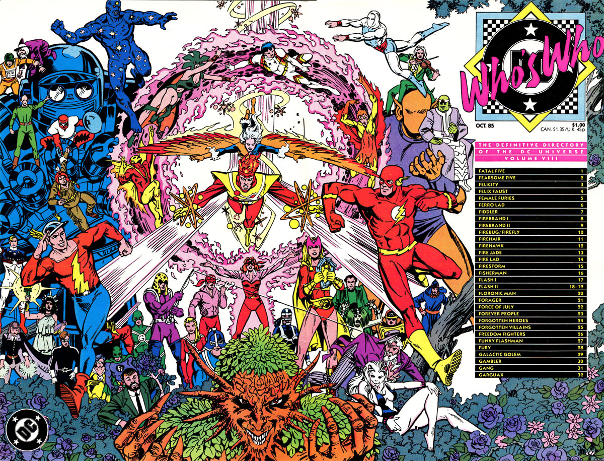 Who's Who: The Definitive Guide to the DC Universe #8 cover by Paris Cullins and Dick Giordano