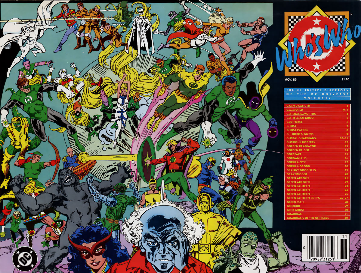 Who's Who: The Definitive Guide to the DC Universe #9 cover by Paris Cullins and Dick Giordano