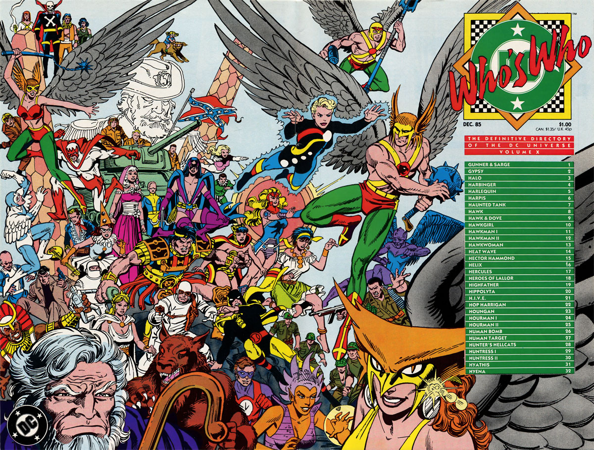 Who's Who: The Definitive Directory of the DC Universe Volume X by Paris Cullins and Dick Giordano