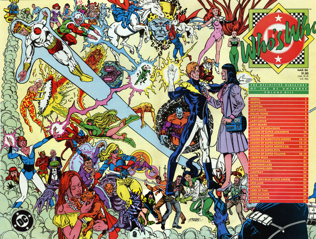 Who's Who: The Definitive Podcast of the DC Universe, Volume XIII cover by George Perez