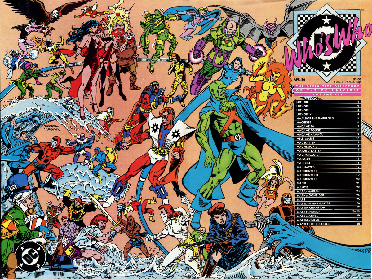 Who's Who: The Definitive Podcast of the DC Universe, Volume XIV cover by George Perez