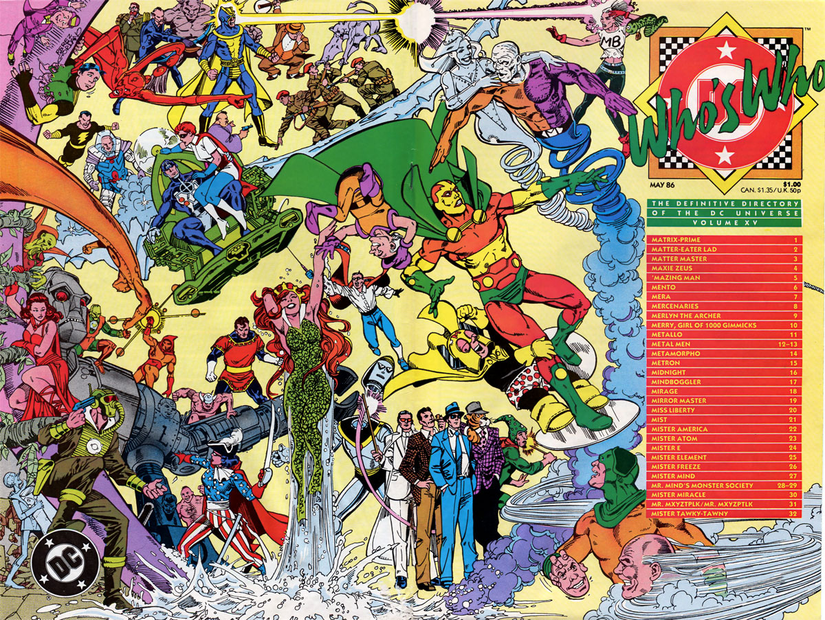 Who's Who: The Definitive Podcast of the DC Universe, Volume XV cover by George Perez and Dick Giordano