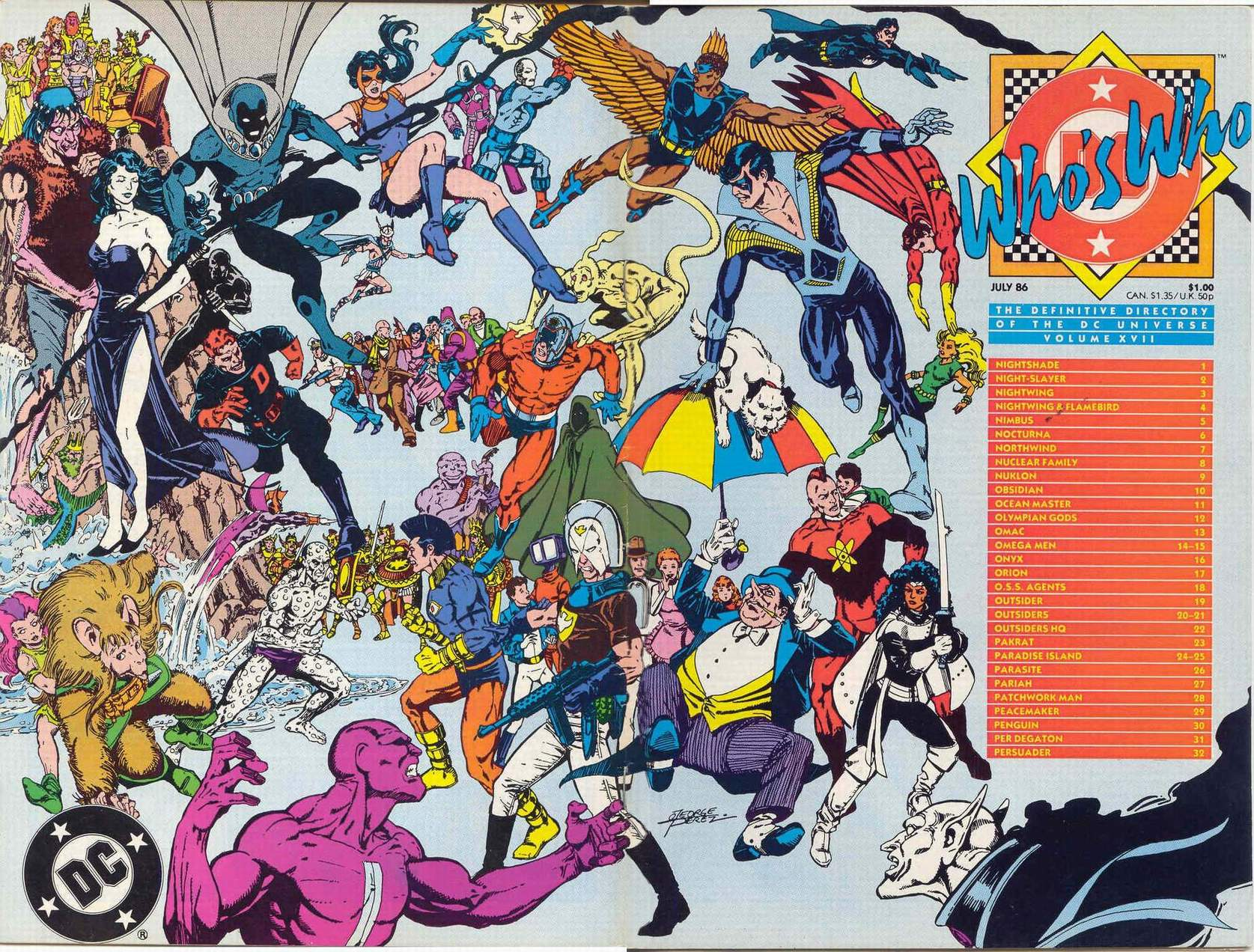 Who's Who: The Definitive Podcast of the DC Universe, Volume XVII cover by George Perez