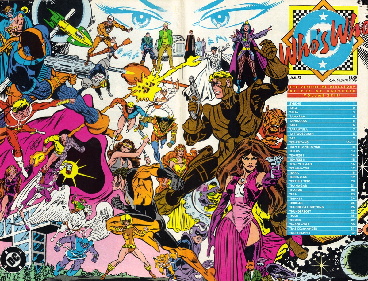 Who's Who the Definitive Directory of the DC Universe #23 cover by Joe Staton and Mike DeCarlo