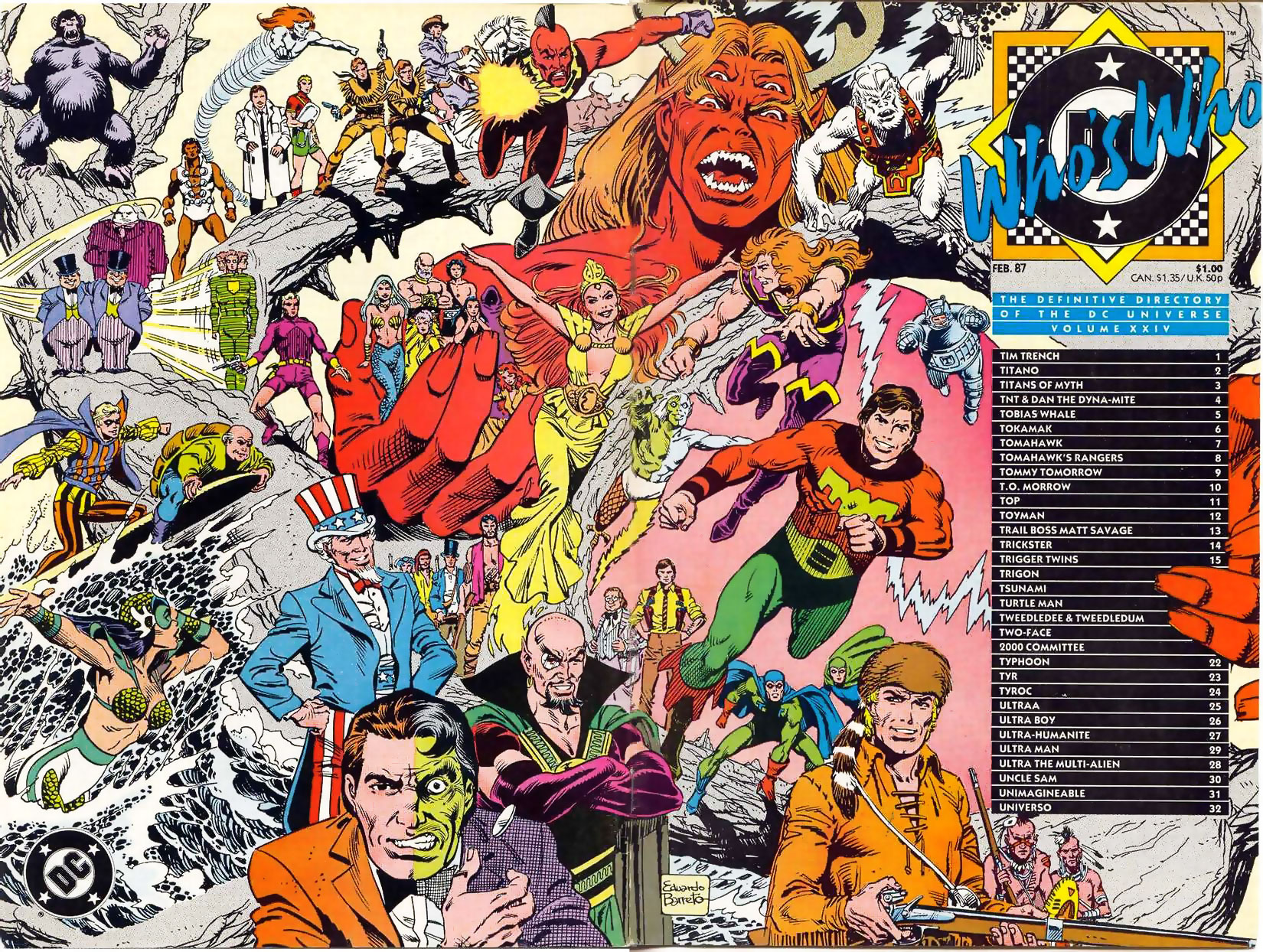 Who's Who the Definitive Directory of the DC Universe #24 cover by Eduardo Barreto