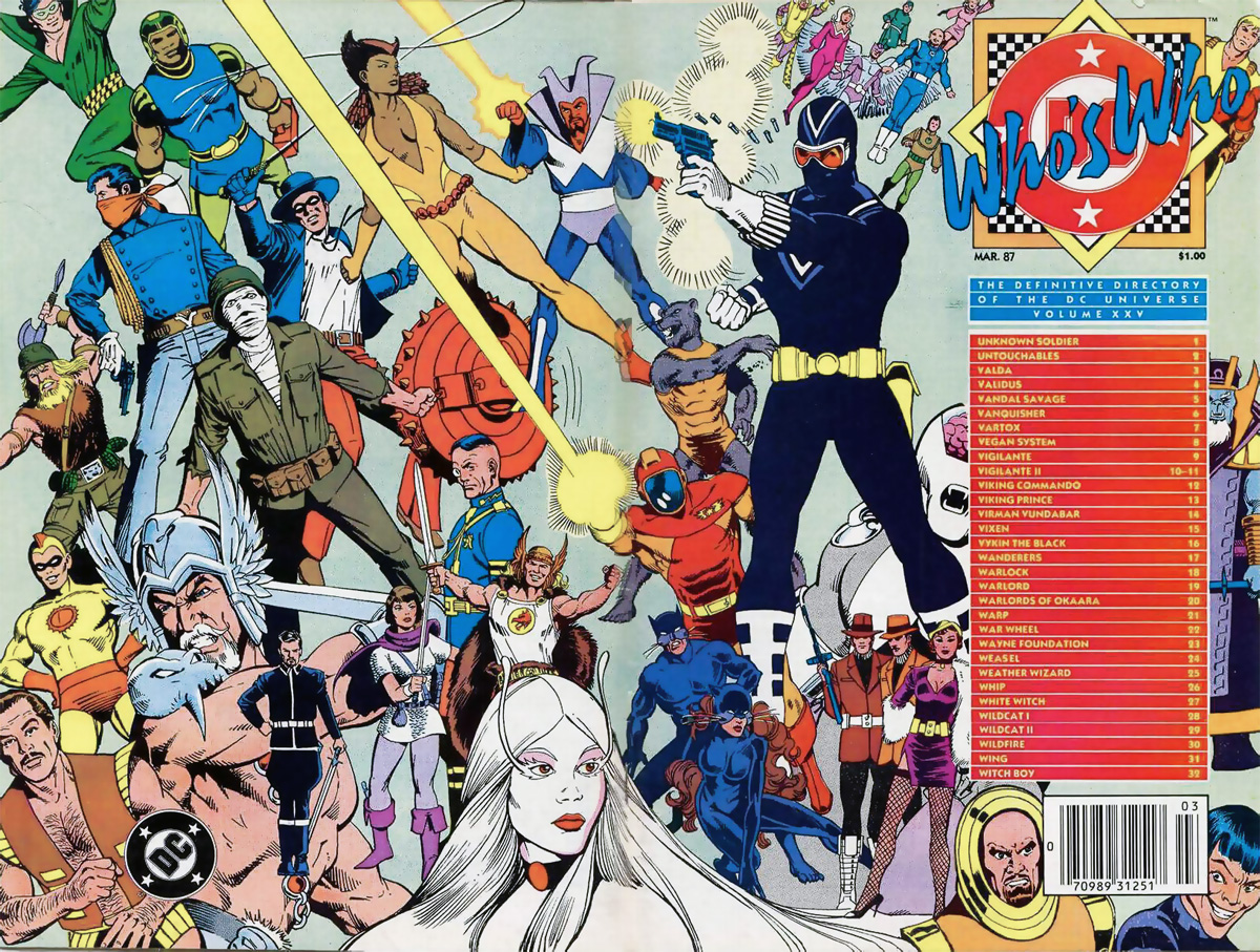 Who's Who the Definitive Directory of the DC Universe #25 cover by Kevin Maguire and Dick Giordano