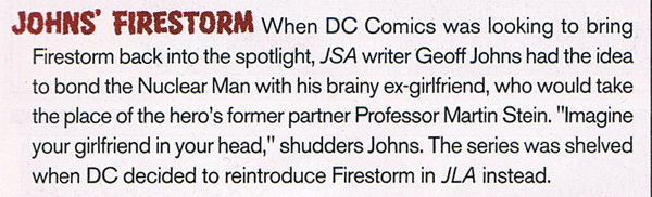 Wizard Magazine #132 - Firestorm Series that Never Was by Geoff Johns