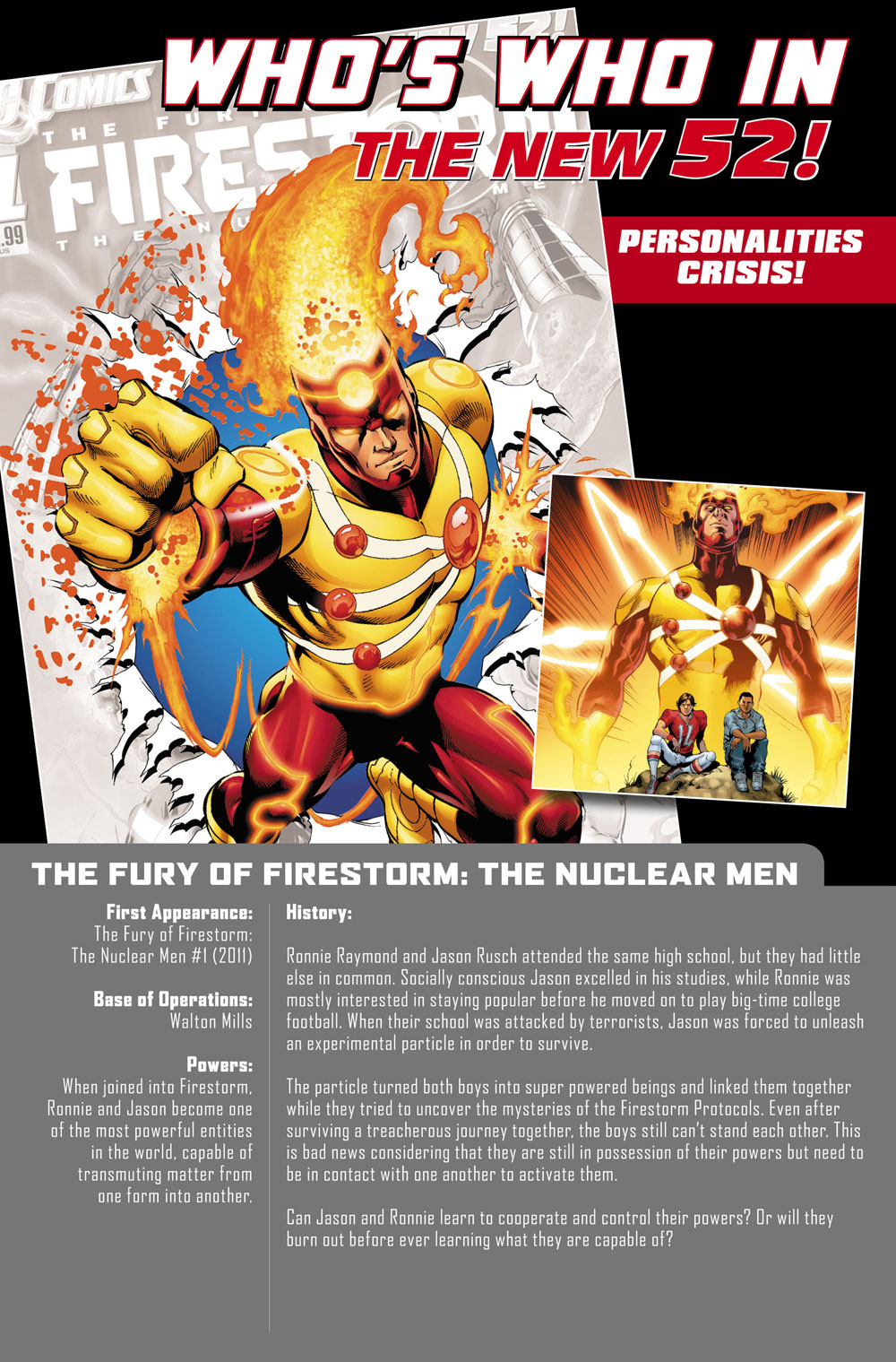 Firestorm Who's Who in the New 52 - 2012