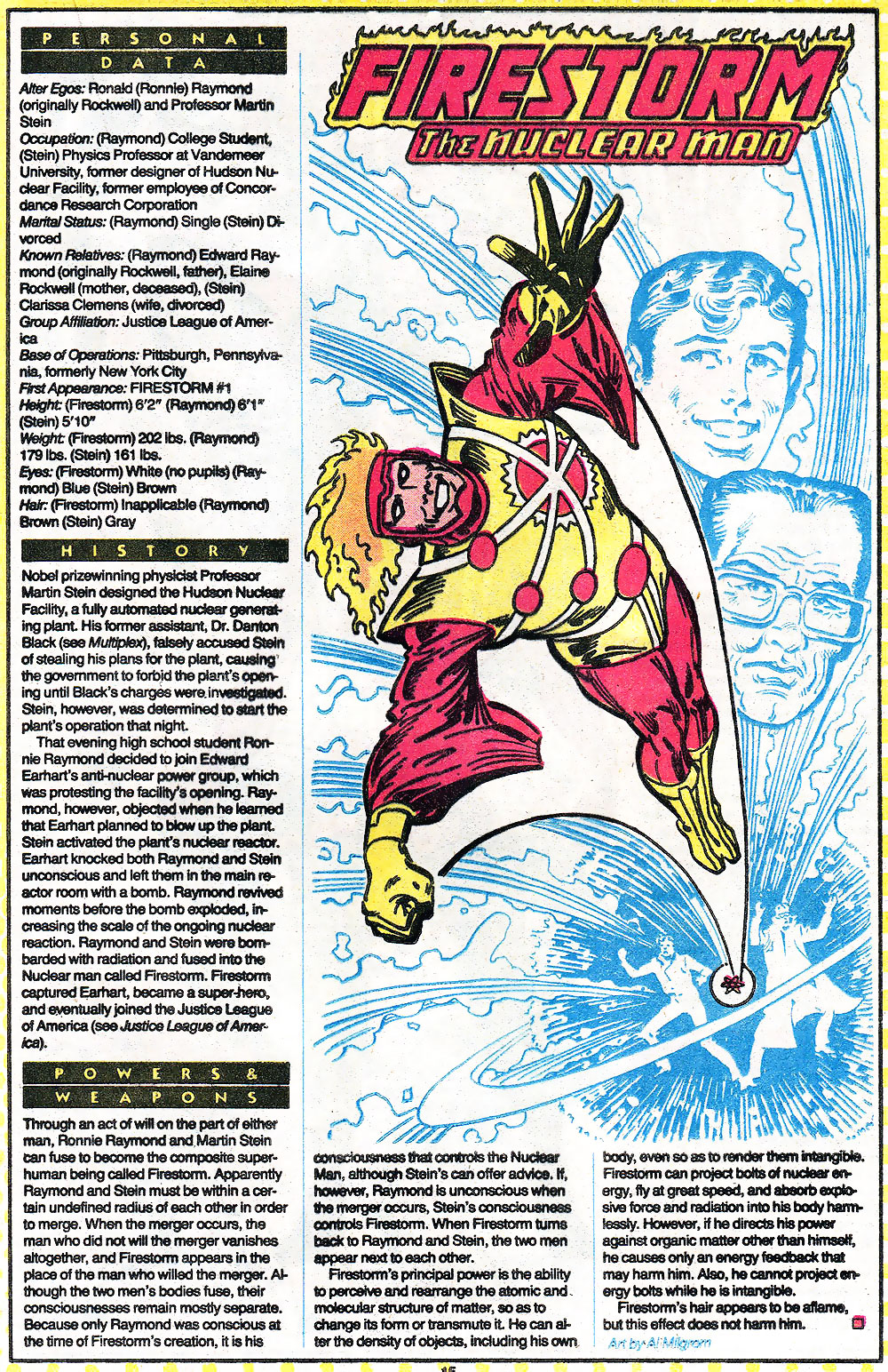 Firestorm from Who's Who - 1985