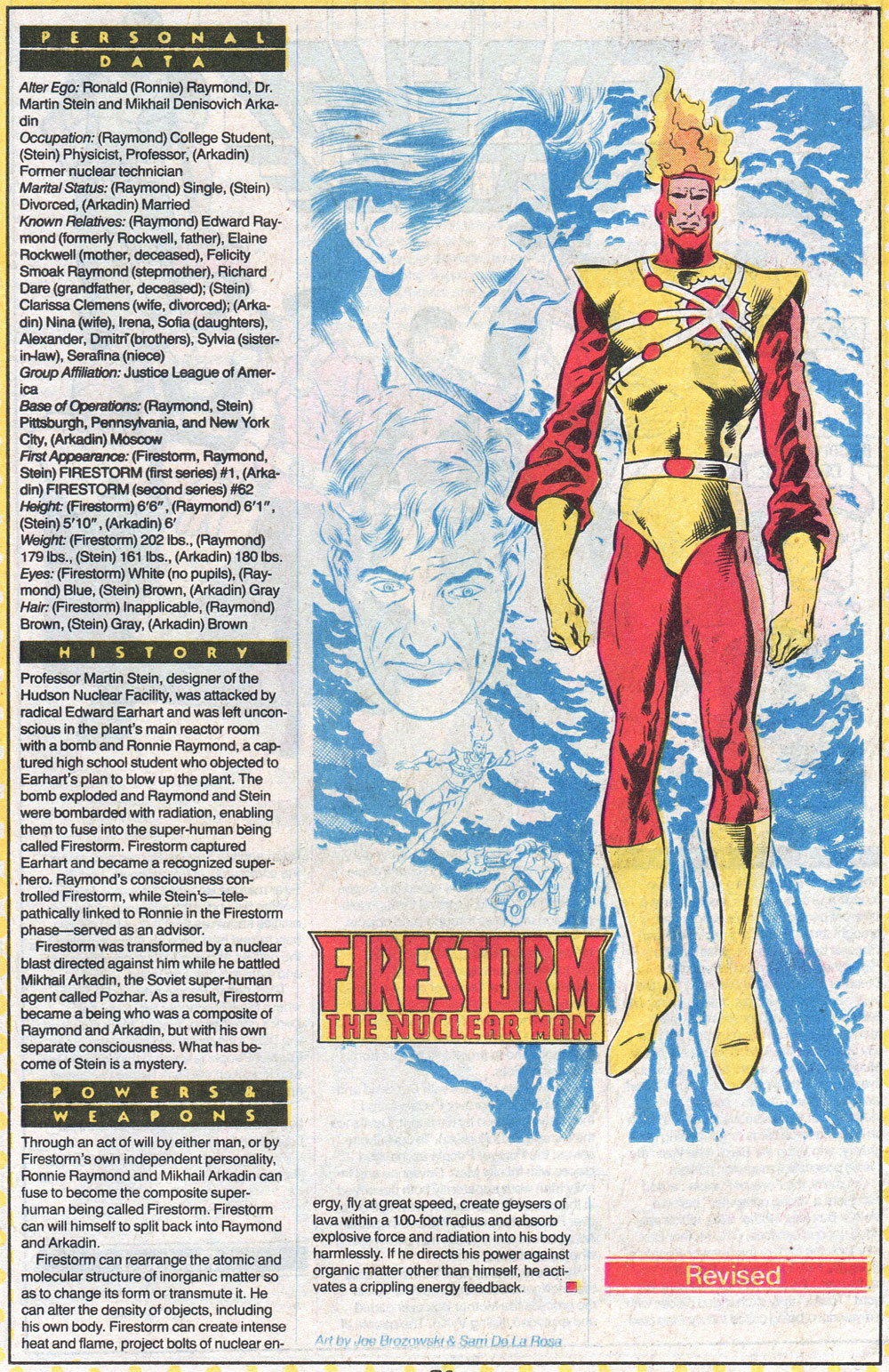 Who's Who Update 88 Firestorm by Joe Brozowski