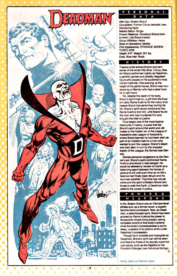 Deadman by Jose Luis Garcia-Lopez from Who's Who