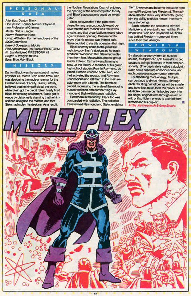 Multiplex from Who's Who by Joe Brozowski and Greg Brooks