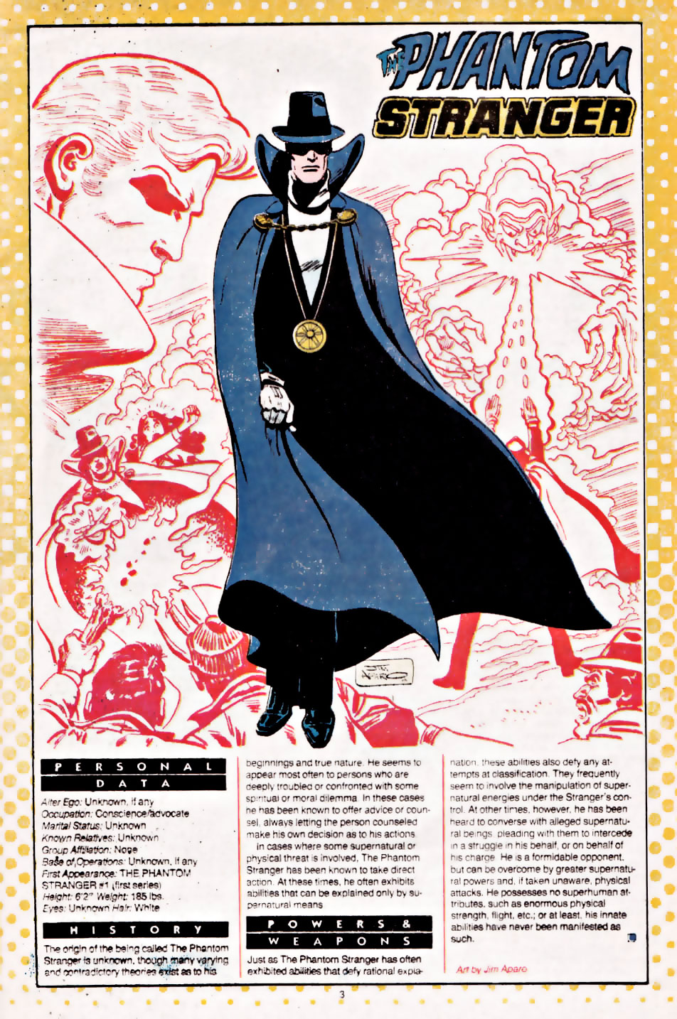 Who's Who Phantom Stranger by Jim Aparo