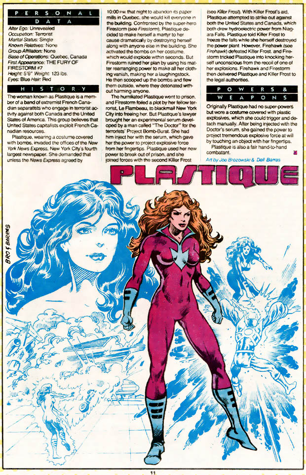 Plastique from Who's Who by Joe Brozowski and Dell Barras
