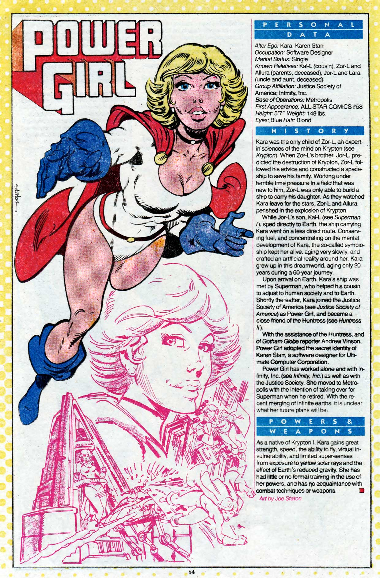 Who's Who Power Girl by Joe Staton